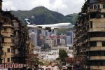 Kai Tak landing corridor, seen from Kowloon walls.