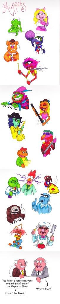 Muppets in Sharpie pen, by groovy gecko