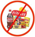 """No Junk Food"" sign"