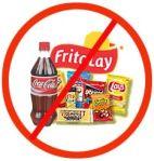 """""""No Junk Food"""" sign"""