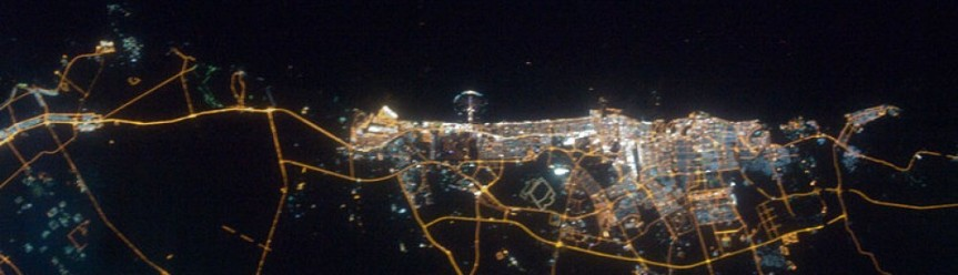 City of Dubai at night, UAE