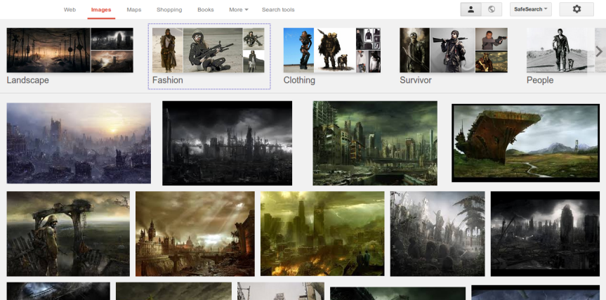 Post-Apocalypse: Google Image search