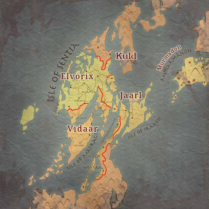 Map of Agaptus with boundaries