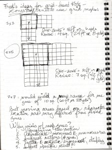 Scanned notes: Grid combat, p. 1
