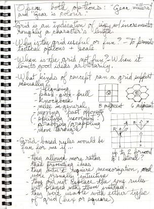 Scanned notes: Grid combat, p. 2