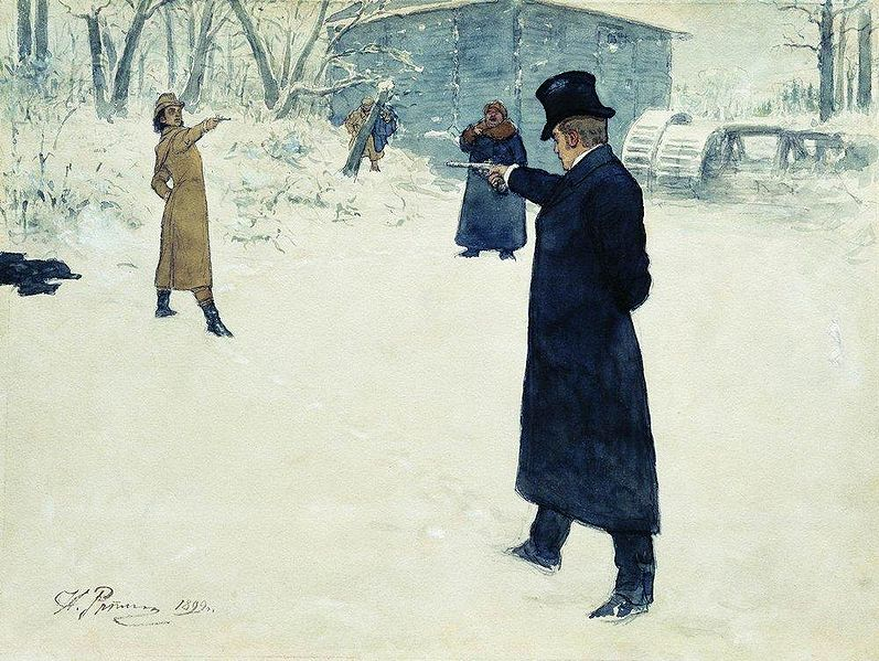 Yevgeny Onegin, by Repin