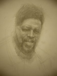Mike Pondsmith: portrait, work in progress by liquidcyberpunk