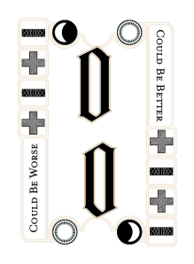 Sample card from the Decl of Fate: +0, one moon, one sun