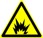Danger: Explosion sign