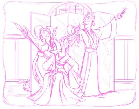 moon princess power - sketch