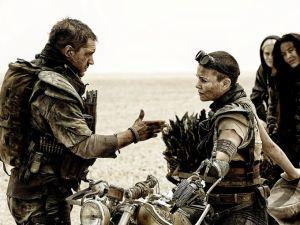 Mad Max and Furiosa at the Salt Desert