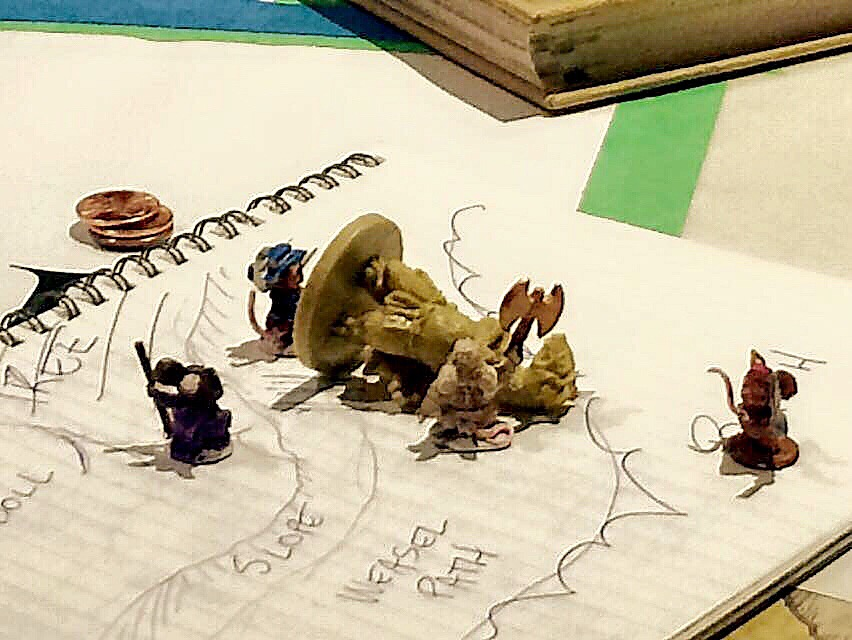 The Mouse Guard defeat the weasel