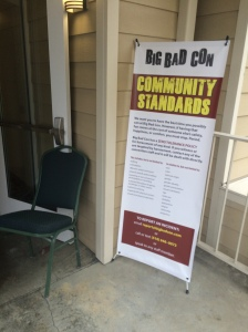 Big Bad community standards, posted at every door and in the program.