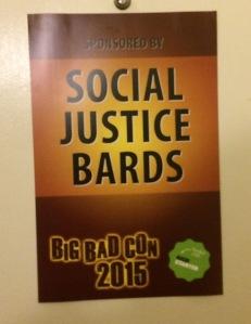Big Bad Con 2015 - Social Justice Bards' room