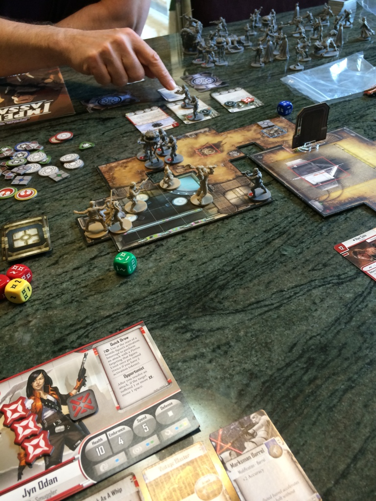 Playing a scenario of Star Wars: Imperial Assault