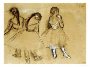 Ballet Dancers Sketch Edgar Degas