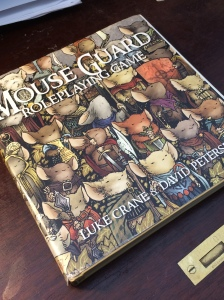 The Mouse Guard Roleplaying Game is an absolutely luscious book to hold in your hands.