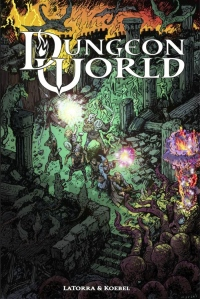 Dungeon World offers play aids in the book and a collection of downloads from its website.
