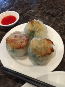 Steamed green onion & pork buns