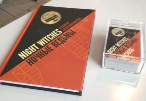 Hardcover book and card deck, Night Witches RPG