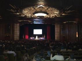 Ceremony at the Paramount Theatre.