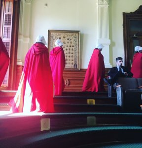 The Handmaids have entered the Texas legislature.