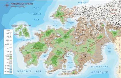 Map of Theah - 7th Sea 2nd edition