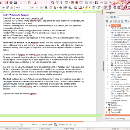 War of Ashes on LibreOffice