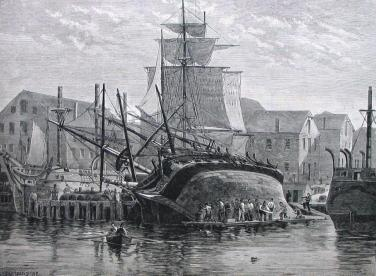 Whaler hove down for repairs