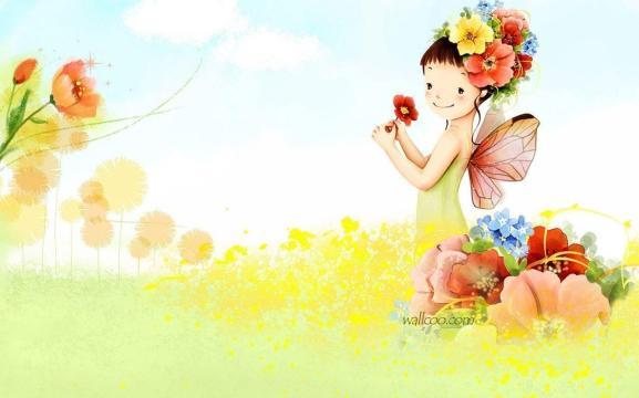 Fairy in a garden