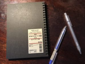 Notebook and pens from Muji